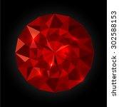 vector images crystal diamond ... | Shutterstock .eps vector #302588153