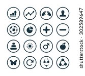 fitness icons universal set for ... | Shutterstock .eps vector #302589647