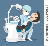 vector illustration. dentist... | Shutterstock .eps vector #302590637