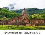 vat phou or wat phu is the... | Shutterstock . vector #302595713