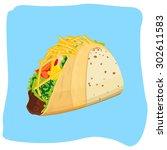 tacos | Shutterstock .eps vector #302611583