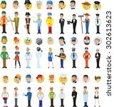 cartoon vector characters of... | Shutterstock .eps vector #302613623