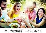 friends friendship outdoor...   Shutterstock . vector #302613743