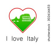 i love italy   template for the ... | Shutterstock .eps vector #302616653