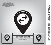map pointer flat icon. vector...