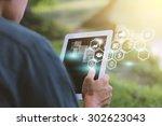 social media social network... | Shutterstock . vector #302623043