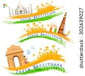illustration of set of banner... | Shutterstock .eps vector #302639027