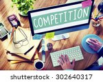 Small photo of Competition Contest Contention Game Race Concept