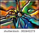 goblin glass series. artistic... | Shutterstock . vector #302642273
