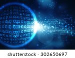 binary technology background | Shutterstock . vector #302650697