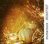 christmas balls    Shutterstock . vector #302657327