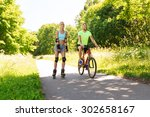 fitness  sport  summer  people... | Shutterstock . vector #302658167