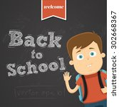 back to school background with... | Shutterstock .eps vector #302668367