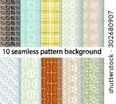10 vector seamless patterns... | Shutterstock .eps vector #302680907