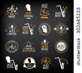 Jazz Music Party Logo And Badg...