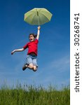 girl jumping  running  with... | Shutterstock . vector #30268741