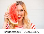 Summer Taste. Cheerful Young...