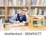 school kid education  student... | Shutterstock . vector #302693177