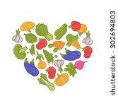 vegetables | Shutterstock .eps vector #302694803