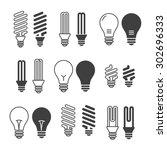 light bulbs. bulb icon set.... | Shutterstock .eps vector #302696333