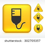 blood bag on yellow multi shape ... | Shutterstock .eps vector #302705357