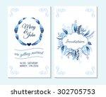 wedding invitation  thank you... | Shutterstock .eps vector #302705753
