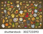 colorful vector hand drawn... | Shutterstock .eps vector #302723393