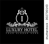 luxury logo template in vector... | Shutterstock .eps vector #302730143