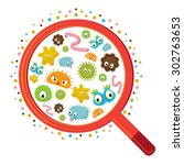 magnifying glass look through... | Shutterstock .eps vector #302763653
