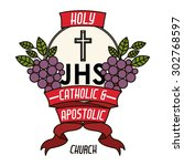 catholic digital design  vector ... | Shutterstock .eps vector #302768597