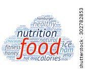 food  info text graphics and... | Shutterstock .eps vector #302782853