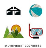 summer vacations design  vector ...   Shutterstock .eps vector #302785553