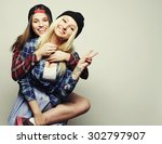 close up lifestyle portrait of... | Shutterstock . vector #302797907