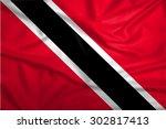 waving trinidad and tobago flag | Shutterstock . vector #302817413