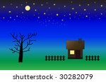 village house at evening | Shutterstock . vector #30282079