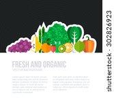 healthy eating vector concept... | Shutterstock .eps vector #302826923