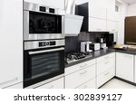 modern luxury hi tek black and... | Shutterstock . vector #302839127