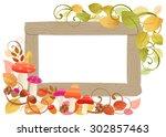 frame of autumn | Shutterstock . vector #302857463