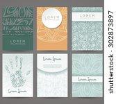 set of vector design templates. ... | Shutterstock .eps vector #302873897