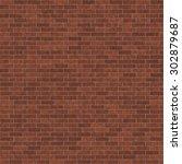 seamless brick texture very... | Shutterstock . vector #302879687