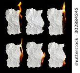 paper burning collection on... | Shutterstock . vector #302884343