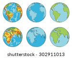 earth illustration with... | Shutterstock . vector #302911013