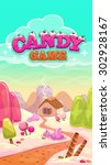 cartoon vector candy world...