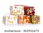 Turkish Delight Isolated On...