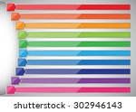 colorful glass rectangle... | Shutterstock .eps vector #302946143