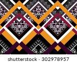 geometric ethnic pattern design ... | Shutterstock .eps vector #302978957