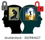 releasing the inner child.... | Shutterstock . vector #302984627