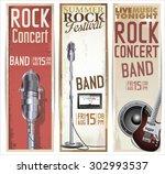 rock festival design template | Shutterstock .eps vector #302993537