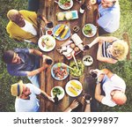 friends friendship outdoor... | Shutterstock . vector #302999897