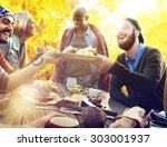 friends friendship outdoor... | Shutterstock . vector #303001937